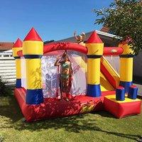Jardim Home Uso Inflável Castelo Bouncy Castelo Jumping Castelo Bounce Casa Combo Slide Moonwak Trampoline Brinquedos Com Blower