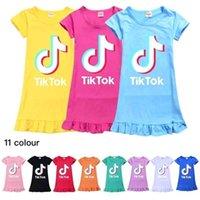 Casual Summer Girls 'Princess Dress Kurzarm Pyjamas Nachthemd Cartoon Baby Kleidung Tutu Kinder Home Kleider Rock GG36WNNU