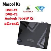 MECOOL K5 AMLOGIC S905X3 Smart Android 9.0 TVB-Box DVB-S2 DVB-T2 DVB-C 2GB 16GB 2.4G 5G WiFi BT Установите верхнюю коробку