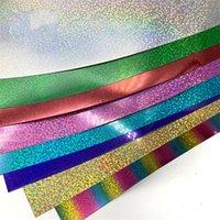 Блеск теплопередачи виниловые листы блеск HTV железо на винил для DIY Cricut T рубашку 8 яркие цвета теплые прессы HTV винил один 144 S2