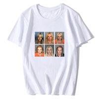 Lindsay Lohan Mashup Celebrity Mugshot Vintage Vintage Grunge Look T-shirt Imprimer Mode Hommes Tshirt Tshirt Tees Streetwear