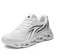DHGR454 Açık Spor Ayakkabı Erkekler Hafif Runner Meshs Sneakers Alev Uçan Dokuma Outdoosr Örgü Çorap Koşu Yürüyüş Mavi Siyah