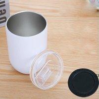 300ml Sublimation Tasse à café en forme d'oeuf en acier inoxydable tasse d'acier inoxydable bouteille d'eau en flacon à vide mignon HWA5878
