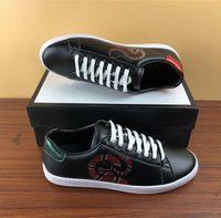 Ace Rahat Ayakkabılar İndirim Erkekler Kadınlar Açık Yüksek Top İtalya Marka Arı Tasarımcı Sneakers Deri Resmi Eure Boyutu 35-47 Dropship Fabrika Mix Sipariş Online Satış