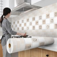 Wallpapers 5mDIY Kitchen Special Sticker Waterproof And Oil Proof Counter Board Lined With Adhesive Wall Paper Roll PVC Decorative Film