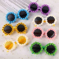 Creative Daisy Fun Lovely Lace Flowers Full Frame Street Shooting Sunglasses Girls Fashion with Travel
