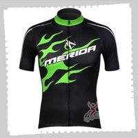 Vélo Jersey Pro Team Merida Mens Summer Scoraires rapides Uniformes de montagne Vélo de montagne Chemises Vélo Tops Vêtements de course Vêtements de course Vêtements de sport extérieurs Y21041205