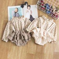 2pcs Vintage Baby Girl Vêtements Ensemble En Été Coton Filles Chemiseur Floral Chemise Robe Robe Robe Printemps Nouveau-né Bébé fille Vêtements # 125