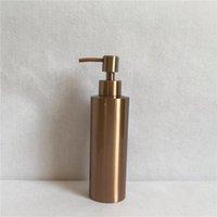 Distribuidor de sabão líquido DWZ 304 aço inoxidável mão desinfetante garrafa bancada rosa ouro
