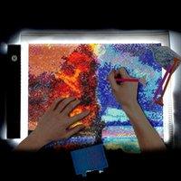 다이아몬드 그림 A4 드로잉 그래픽 태블릿 상자 LED 라이트 패드 플레이트 액세서리 도구 키트 A5 램프 복사 아트 스텐실