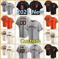 San Francisco Baseball 22 Will Clark 9 Brandon Gürtel 35 Brandon Crawford Custom 28 Buster Posey Giants Jersey 12 Alex Dickerson Herren