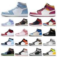 Düşük Fiyat 1 S Erkek Elbise Ayakkabıları 1 Hiper Kraliyet Üniversitesi Mavi Yasaklanmış Bred Gölge UNC Kadın Erkek Eğitmenler Spor Sneakers Toptan
