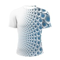 T 셔츠 3D Redemoinho Tridimensional Para Homem Com Impressão de Verão Gola O, Engraçada 캐주얼 디아 리아 남성용 T 셔츠