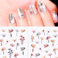 2pcs Colorful Floral Nail Decor Art Water Transfer Decals Flower Designs For Women Decorations Sticker Summer Tips1