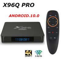 X96Q Pro 10 Android TV Box Allwinner H313 2.4g 5G WIFI 4K 2GB 16 Go Lecteur multimédia 1GB 8 Go TV Boîte Top Box VS X96 max +