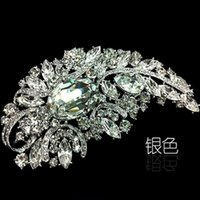 4.9 pollici Enorme dimensione elegante stile strass cristallo diamante spilla monili da sposa gioielli da sposa regali 16 colori disponibili