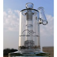 Mobius Glass Bong 8 Inch Hookah Drum Perc 18mm Female Joint Water Pipes Birdcage Percolator Oil Dab Rig Smoking Accessories Bongs With Bowl