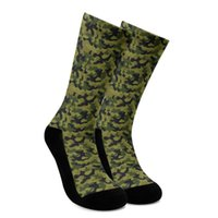 Men's Socks Arrive Fashion Custom Design Camouflage Camo 3D Print Crew Customer Drop Wholesalers