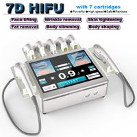 7D HIFU beauty face lifting device anti aging facial rejuvenation wrinkle removal equipment body slimming machine