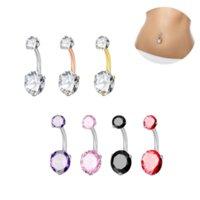 Cubie Zirkon Diamant Nabel Ring Bauchknopf Chirurgisch Edelstahl Piercing Körper Schmuck für Frauen Mode Will und Sandy