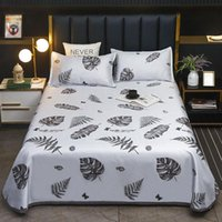 Bedding Sets Ice Silk Mat Nordic Style Light ColorCloth Wombat Summer Bed Sheet And Pillowcases For Fashion Set Home Decoration