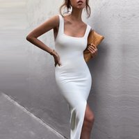 Adyce New Summer Women Fashion Tank Club Bandage Dress 2021 Sexy Sleeveless Bodycon White Celebrity Evening Party Maxi Dresses