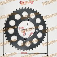 Engine Assembly 420 428 Chains 35T 37T 39T 41T 43T 45T 48T Motorcycle Chain Sprockets Rear Back Sprocket Cog For 110cc 125cc 140cc Dirt Pit