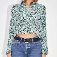 Women Summer Print Blouses Shirts Tops 2021 Long Sleeve Vintage Casual Loose Female Street Top Clothing Blusas BB2974 Women's &
