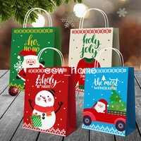 Suministros de fiesta Paquete de papel Bolsa de regalo de Navidad Envoltura de regalo de Navidad COOPORES DE PANTALLA DE CANTENCIAS Santa Tote Bolsas Decoración de Navidad