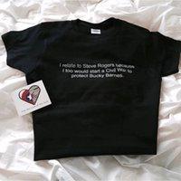 T-shirt Femme Okoufen Je concerne Steve Rogers Protégez Bucky Barnes Tshirt Mode Unisexe Casual Tee Letter Imprimer Cool Drôle Funny Manches