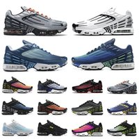 Nike Air Max tn Plus 3  tênis Oreo Obsidian tn plus 3 III III masculino tênis tn3 triplo branco preto hiper og eua neon Crimson Red Michigan tênis esportivo masculino