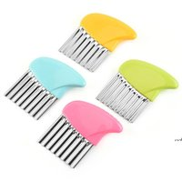 Wave Onion Potato Slicers Crinkle French Fries Salad Corrugated Strip Cutting Chopped Tools Potato Slicer Kitchen Accessories DWE6652
