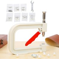 Herramientas de nociones de costura Máquina de ajuste de perlas Punzonización manual DIY Hecho a mano perlas Perlas Remache botones para sombreros zapatos ropa