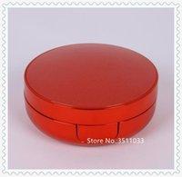 Empty BB CC Cream Air Cushion Container Case With Powder Puff DIY Liquid Foundation Sponge Red Storage Bottles & Jars