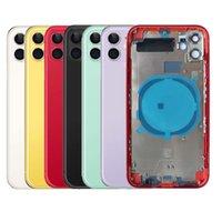 Carcasa OEM para iPhone 8 Plus X XR XS 11 Pro Máxico de vidrio trasero de vidrio Medio Cubierta trasera de la batería de la batería del montaje de la carcasa completa