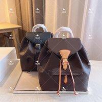 Mini mochila senhora de couro genuíno desenhador de couro mochilas moda back pack fow mulheres bolsas presbyópicas bolsa de ombro cross saco