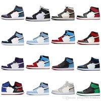 Jumpman 1s High Boots Court 보라색 낮은 망 농구 신발 하이퍼 로얄 어두운 모카 흑요석 여성 스포츠 운동화 1 트레이너 EUR 40-46 Y-22