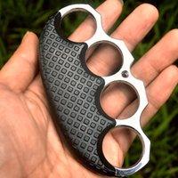 Arti marziali Combattente Ferro in ferro Four Finger Tiger Clip a mano Pulsante Pist Boxer Car Defense ANELLO RING RVJD728