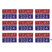 Trump 2024 Presidential Election Brooch Party Supplies U.S. Patriotic Republican Campaign Metal Pin Badge HWD10052