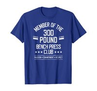 300 Pound Bench Press Club Strong Powerlifter T-Shirt