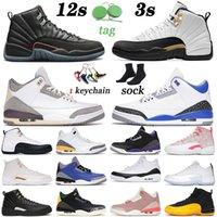 nike air jordan rertro 3 12 Scarpe da basket di arrivo 2021 Utility Twist Mens Womens Jumpman XII Fragment Raised Blue Cement Knicks Rivals Trainers Sneakers Sports TAGLIA 13