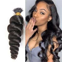 Human Hair Bulks Brazilian Loose Wave Nano Ring Extensions 1g s 100Strands Set Machine Made Natural Color Extension