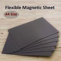 Feuilles d'aimant A4 Tapis magnétiques noirs pour réfrigérateur photo et photo découper des images d'artisanat d'un côté 0.5mm