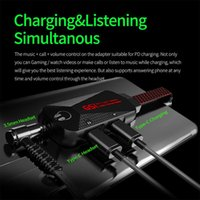 Sound Cards GS1 USB C Charging Adapter 3 In 1 Type-C To 3.5mm QC Fast Mobile Phone Audio Cable