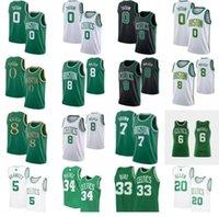 Basketbol forması Kemba Walker Jayson 0 Tatum Bill 6 Russell Larry 33 Kuş Rondo Kevin 5 Garnett Paul 34 Pierce 20 Allen Jerseys
