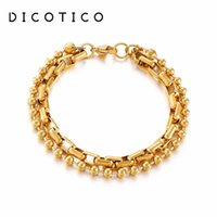 Charm Bracelets Double Chain Wristband Bracelet For Women Stainless Steel Ball Pulseras Jewelry Simple Accessory Wholesale Items