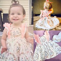 Girl's Dresses Baby Girls Dress Easter Day Cartoon Print Backless Ruffle Sweet Ctue Child Clothes 2021 Summer Costume