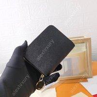 M60017 Standart Zippy Cüzdan Tasarımcısı Moda Kadın Erkek Anahtar Kılıfı Kredi Kartı Sahipleri Sikke Çanta Lüks Mini Cüzdan Çanta