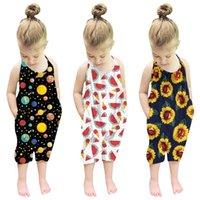 Giyim Setleri Yaz Çocuk Toddler Bebek Kız Kolsuz Bandaj Tulum Tulum Tulum Bebek Backless Pamuk Tulum Giysi Kıyafetler 31