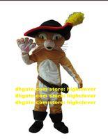 Puss Boots猫マスコット衣装大人の漫画のキャラクターの衣装のスーツ幼稚園ペットショップ映画小道具CX4033無料船